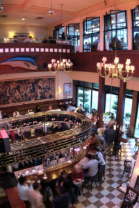 The interior of Joe Fortes Seafood and Chop House Vancouver BC