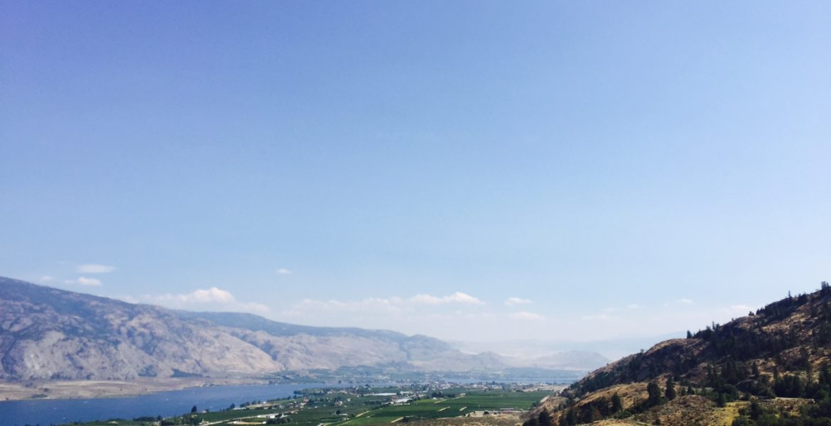 View of the valley of Osoyoos from atop photo by Kaila So