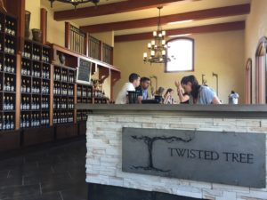 the inside of the Moon Curser Vineyards tasting room