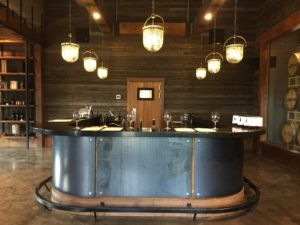 the beautiful counter front of Vanessa Vineyard tasting room