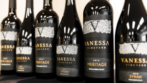 a selection of Vanessa Vineyard wines