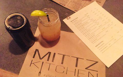 Mittz Kitchen menu and drinks photo by Kaila So