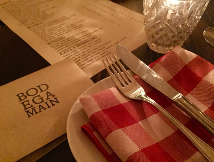 the adorable fold up menu at Bodega on Main in Vancouver BC