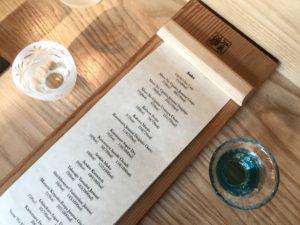 Masayoshi sake menu